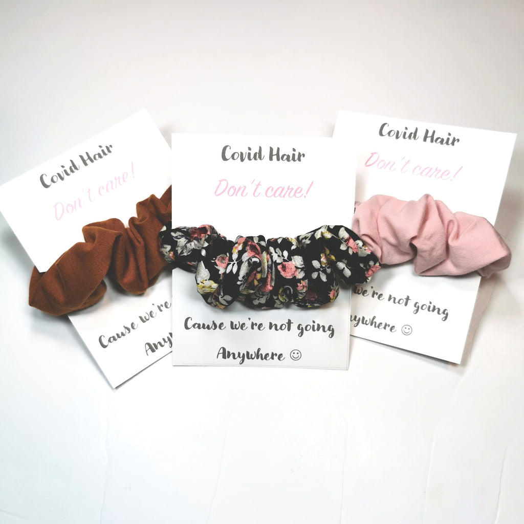 Covid Hair...Dont Care Scrunchie Card