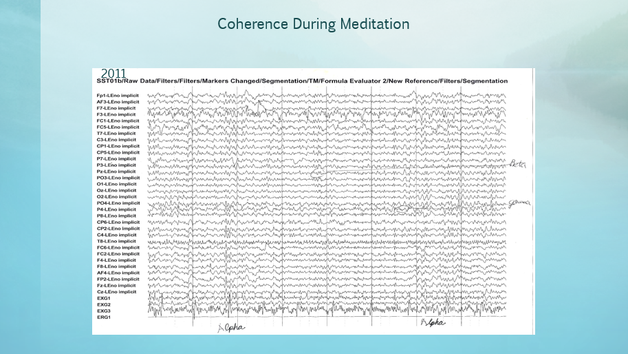 Coherence During Meditation