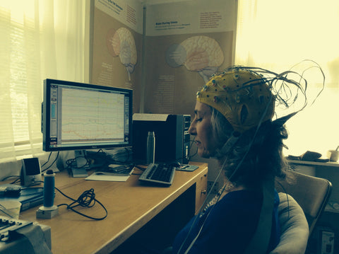 Suzanne Stryker having EEG brain waves done
