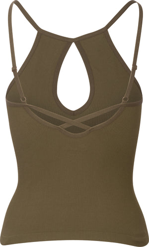Tear Drop Ribbed Cami