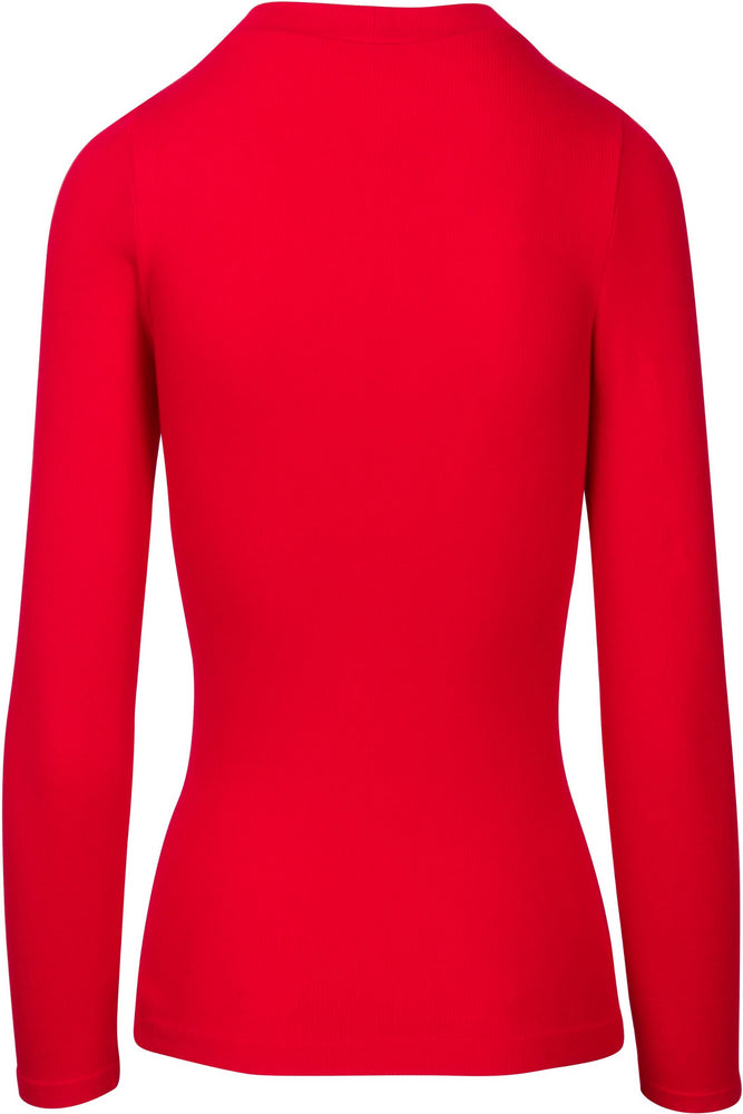 Choker Neck Long Sleeve