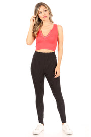 Pineapple Grid Cinched Back Leggings - Suzette Collection