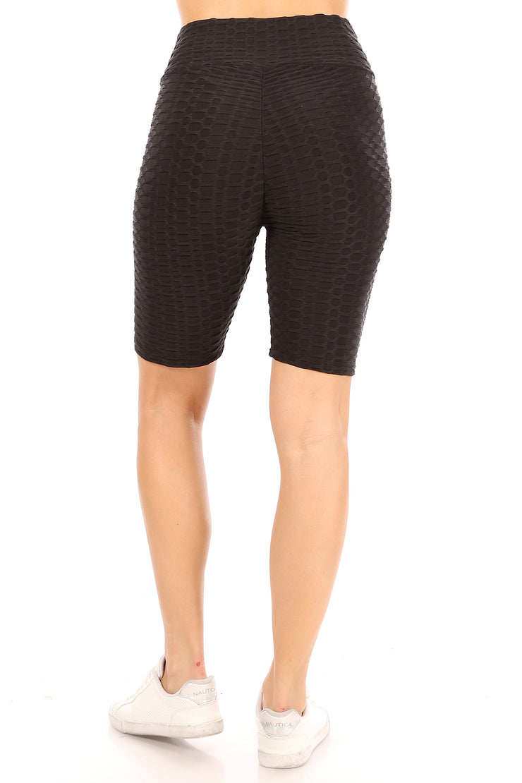 Pineapple Grid Cinched Back Bike Short - Suzette Collection