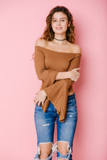 Off the Shoulder Flared Long Sleeve