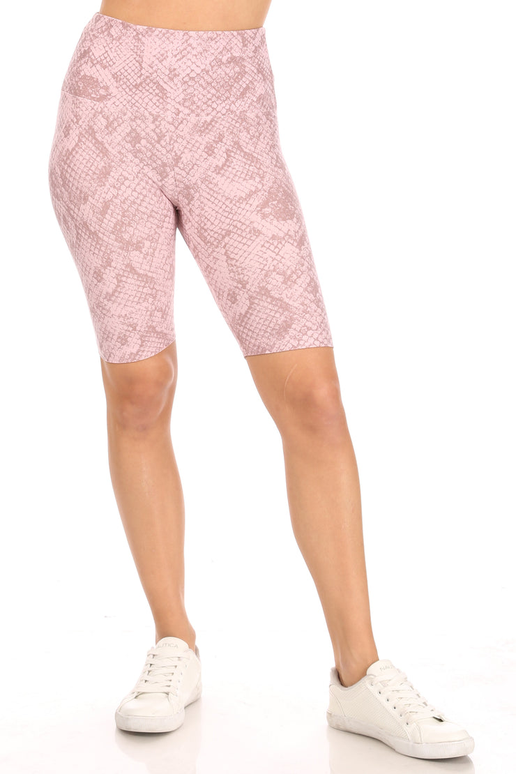 Yummy Snake Print Bike Short - Suzette Collection