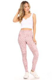 Brushed Poly Snake Print Leggings - Suzette Collection