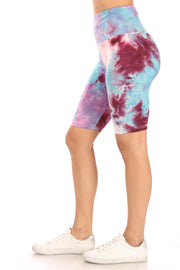 Purple Multi Tie Dye Bike Shorts - Suzette Collection