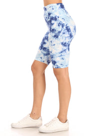 Blue Tie Dye Bike Shorts - Suzette Collection
