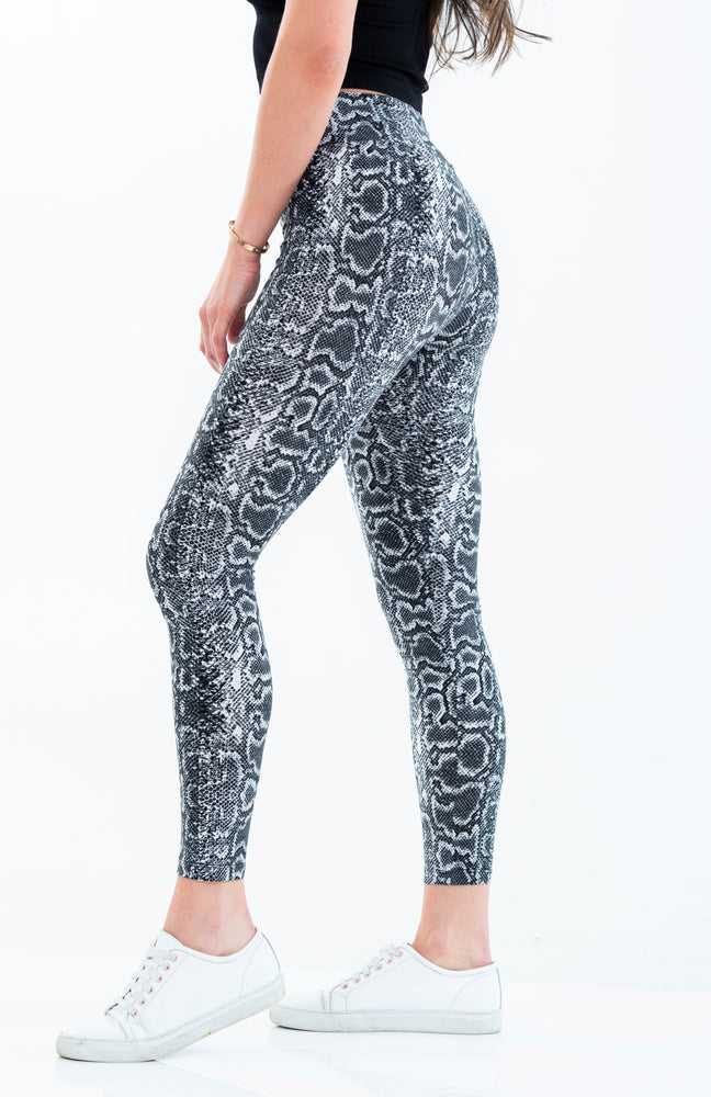 Brushed Poly Python Print Leggings