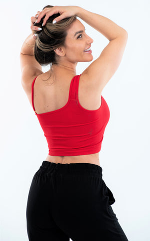 One Shoulder Tank w/ Rectangle Hardware