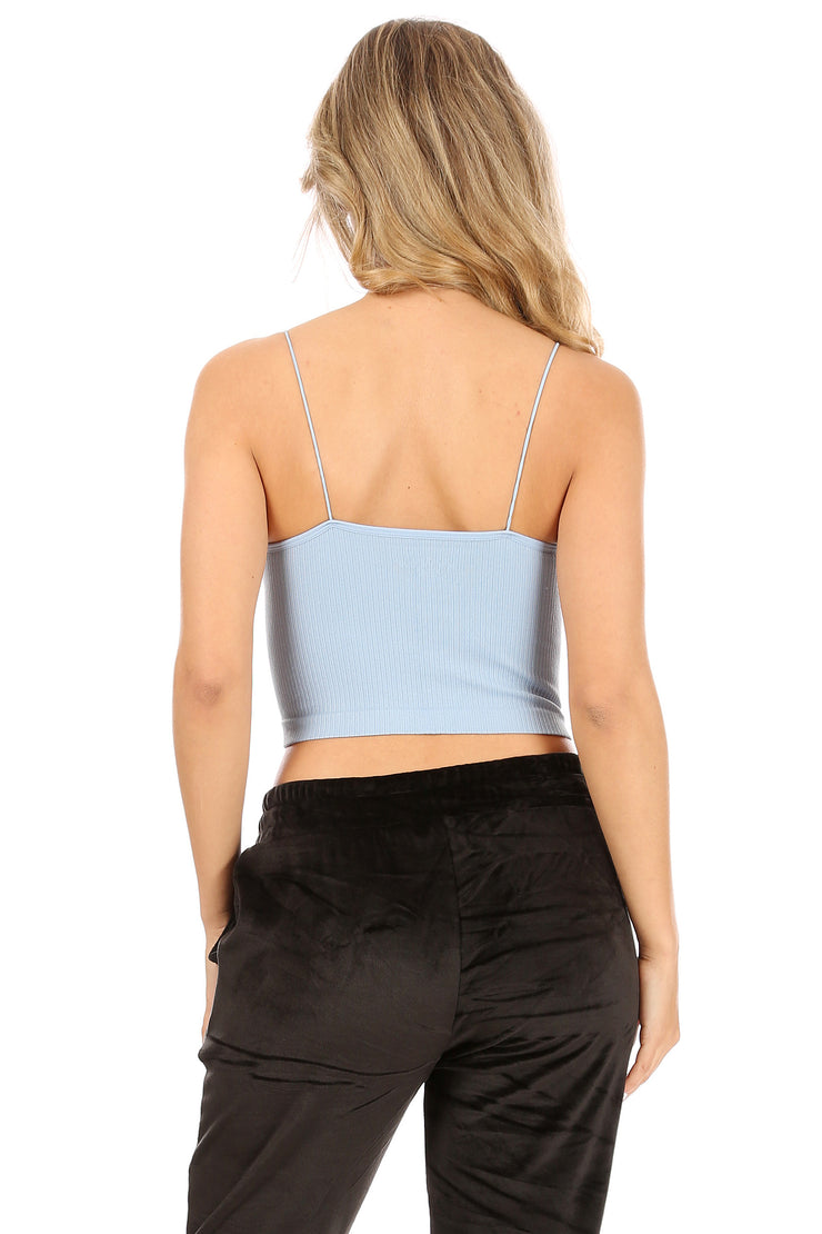 Rib Bungee Crop Top - Suzette Collection