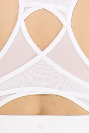 Lattice Mesh Criss Cross Sports Bra - Suzette Collection