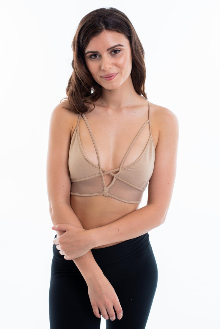 Seamless Bralette with Mesh - Suzette Collection