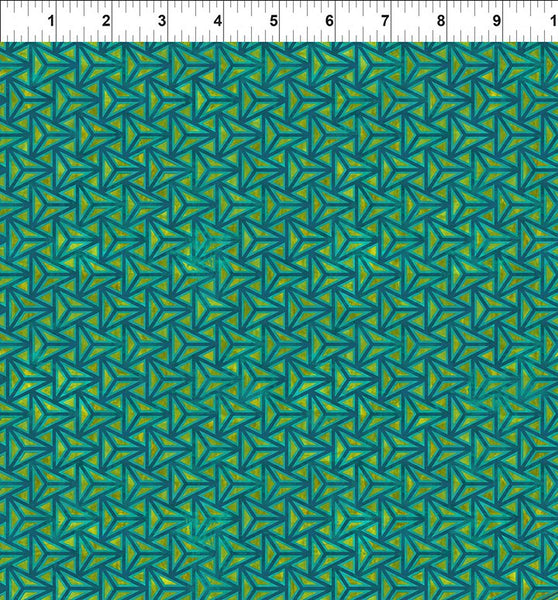 Cosmos by Jason Yenter : Facet in Teal : In the Beginning Fabrics