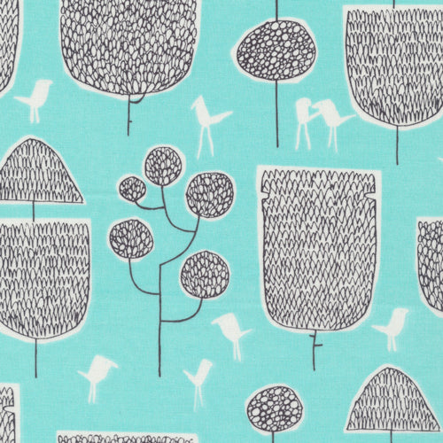 Yoyogi Park by Skinny LaMinx : Tokyo Trees in Turquoise : Cloud 9