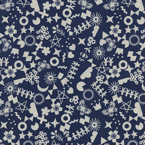 Paper Cuts by Rashida Coleman-Hale : Cut It Out in Navy : Cotton and Steel