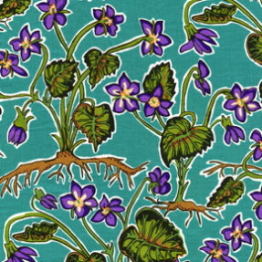 The Bee's Knees by Terrie Mangat : Violets in Teal : Free Spirit