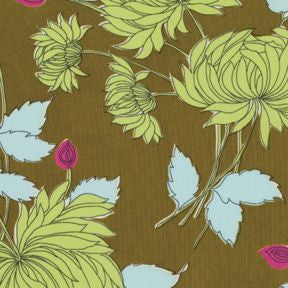 Amy Butler : Belle : Chrysanthemum in Olive PWAB115 : Westminster