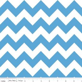Medium Chevron C320-22 Medium Blue : Riley Blake