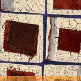 Mosaic by Marcia Derse : White and Brown Tiles
