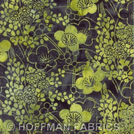Bali Chop : Asian Floral Key Lime : Hoffman : Batik