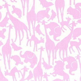 Baby! by Cynthia Rowley : Animal Silhouette in Pink : Michael Miller