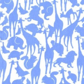 Baby! by Cynthia Rowley : Animal Silhouette in Blue : Michael Miller