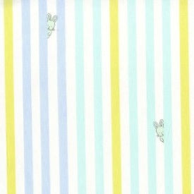 Baby! by Cynthia Rowley : Bunny Stripe in Blue : Michael Miller