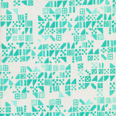 Clover by Alexia Abegg : Tiny Tiles in Aqua : Cotton and Steel