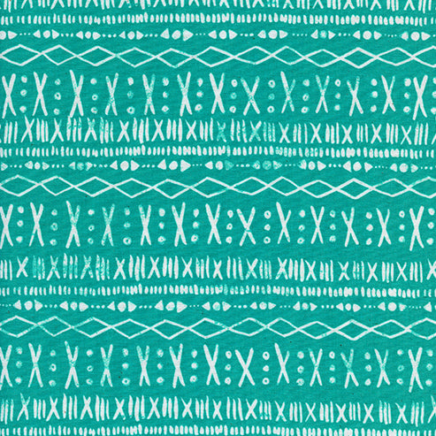 Printshop by Alexia Abegg : Stitch in Turquoise : Cotton and Steel