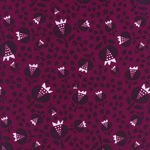 Flower Shop by Alexia Abegg : Thistle in Cerise : Cotton and Steel : Rayon