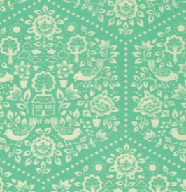 Clementine by Heather Bailey : HB057 Turquoise : Free Spirit