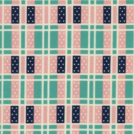 Lucky Strikes by Kim Knight : Domino Plaid in Turquoise : Cotton and Steel