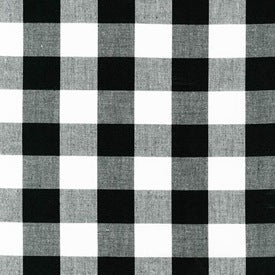 "Carolina Gingham 1"" : Black : Robert Kaufman"