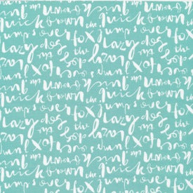 Typography by Jessica Jones : Script in Turquoise : Cloud 9 : Organic