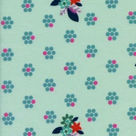 Fruit Dots by Melody Miller : Fruit Blossoms Mint 29-2 : Cotton + Steel