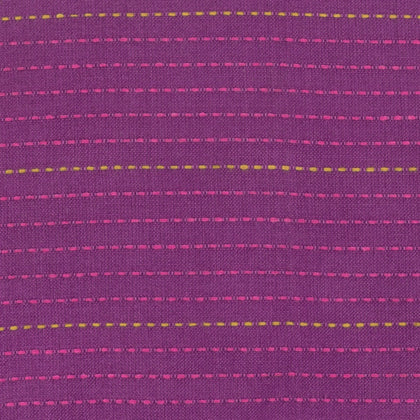 Loominous by Anna Maria Horner : Dotted Line in Eggplant : Free Spirit