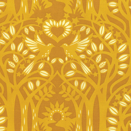 Hello Love by Heather Bailey : Norwegian Wood in Gold : Free Spirit