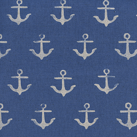 SS Bluebird : Anchor in Blue : Cotton and Steel