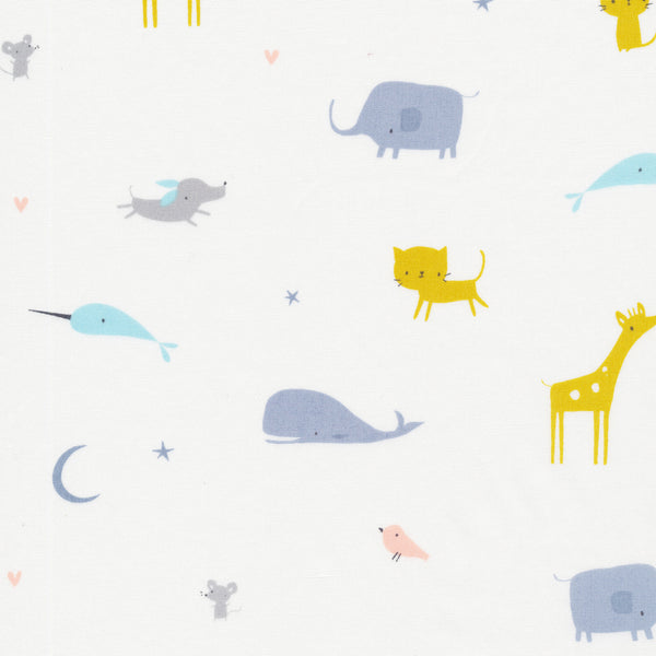 Tout Petit by Little Cube : Animal Parade in White : Cloud 9