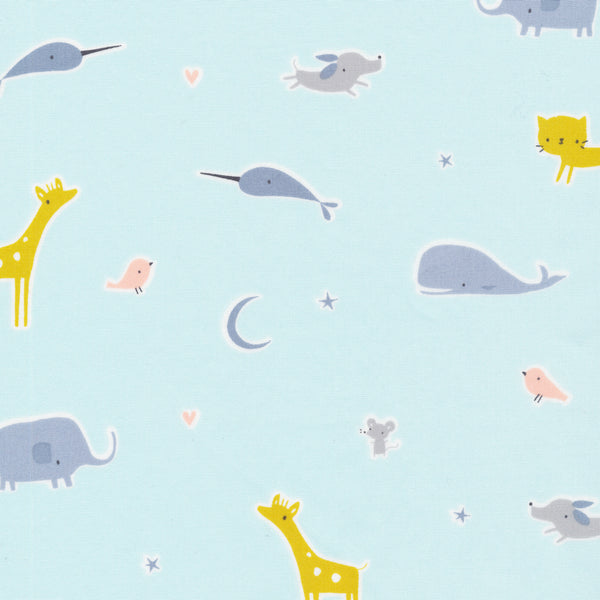Tout Petit by Little Cube : Animal Parade in Blue : Cloud 9
