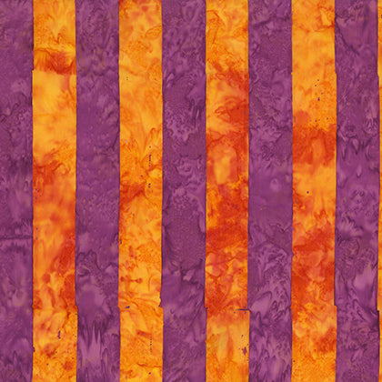 Artisan by Kaffe Fassett : Big Stripe in Orange : Free Spirit : Batik