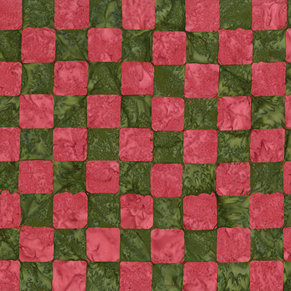 Artisan by Kaffe Fassett : Chess in Green : Free Spirit : Batik