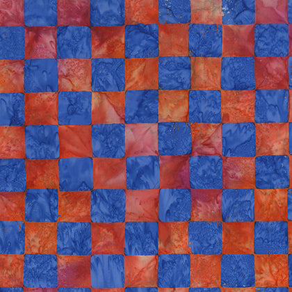 Artisan by Kaffe Fassett : Chess in Red : Free Spirit : Batik