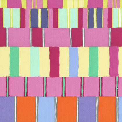 Artisan by Kaffe Fassett : Layered Stripe in Pink : Free Spirit
