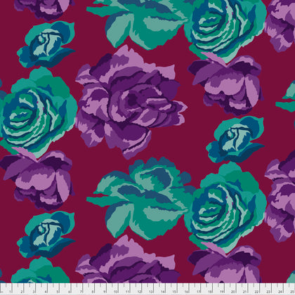 Kaffe Fassett : Rose Clouds in Maroon : Free Spirit