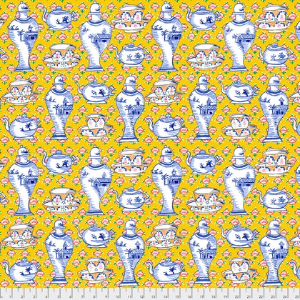 Kaffe Fassett : Delft Pots in Yellow : Free Spirit