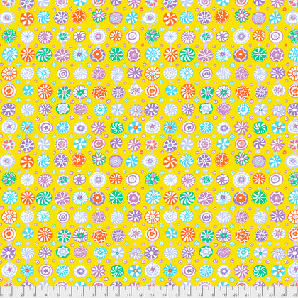Kaffe Fassett : Whirligig in Yellow : Free Spirit