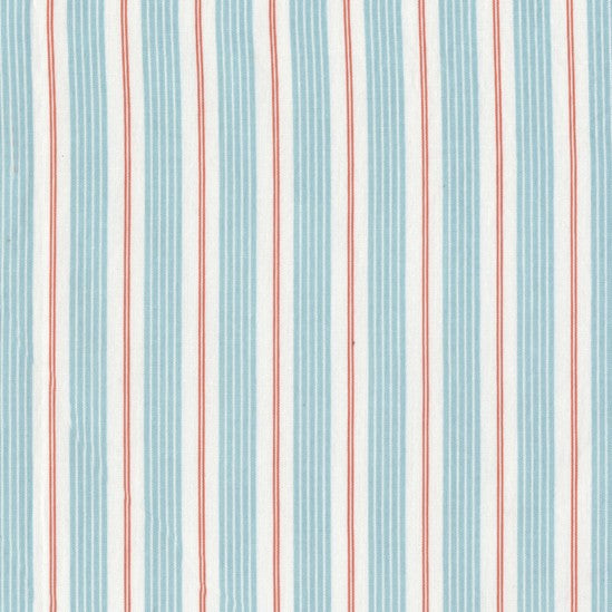Best of Sarah Jane : Racer Stripes in Aqua : Michael Miller