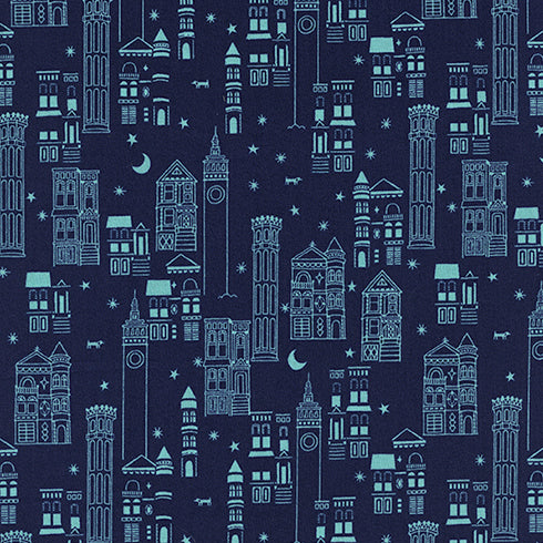 Lawn Quilt by Cotton and Steel : Metropolis in Navy : Cotton and Steel